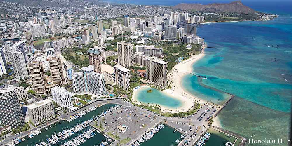 Waikiki Condos Aerial Photo