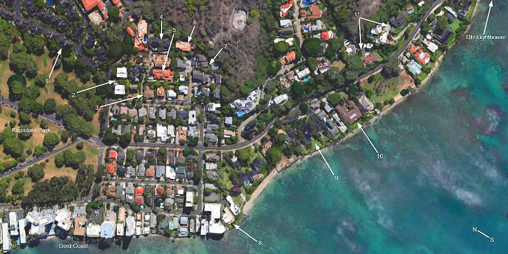 Map of Diamond Head CPR's & PUD's West of Diamond Head Lighthouse