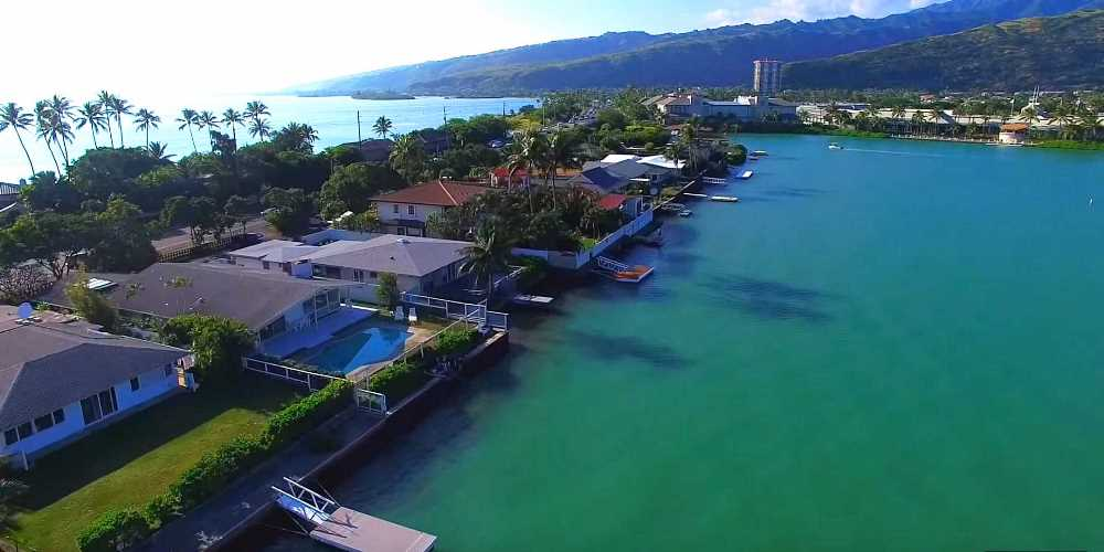 Luna Kai Marina Front Homes Hawaii Kai - Aerial Photo