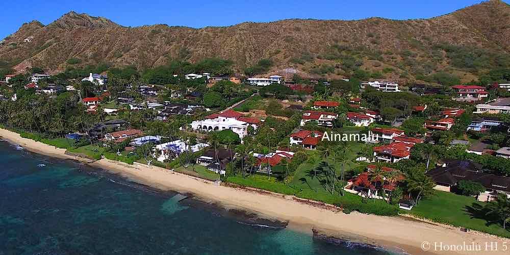 Ainamalu Homes in Diamond Head - Aerial Photo