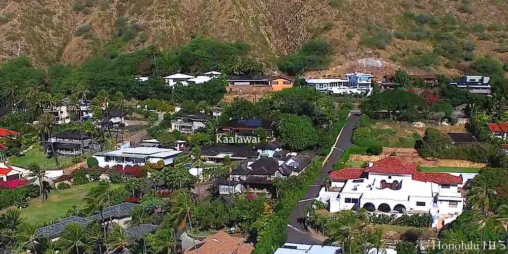 Kaalawai Homes in Diamond Head - Aerial Photo