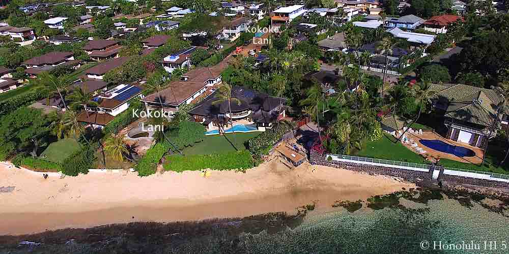 Kokoke Lani Homes in Diamond Head - Aerial Photo