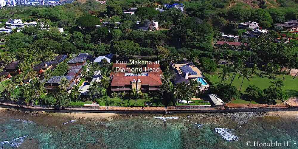 Kuu Makana at Diamond Head - Aerial Photo