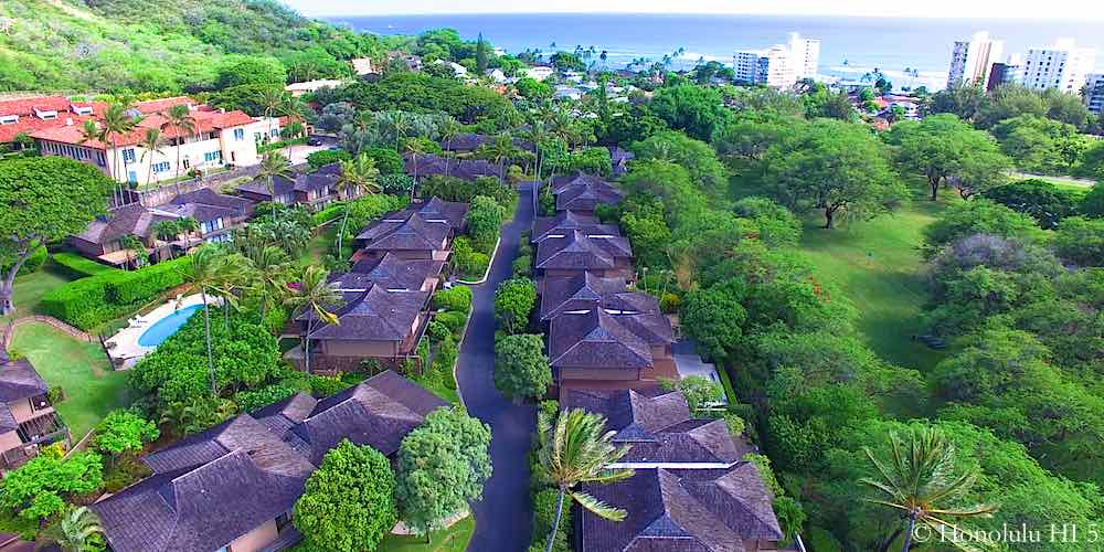 La Pietra Diamond Head Townhomes - Drone Photo
