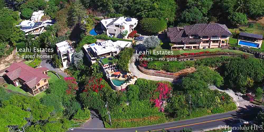 Leahi Estates in Diamond Head - Aerial Photo
