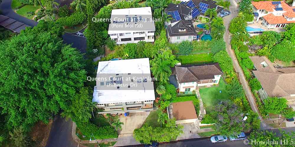 Queens Court at Kapiolani - Drone Photo