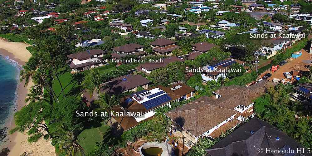 Sands at Kaalawai Homes in Diamond Head - Aerial Photo
