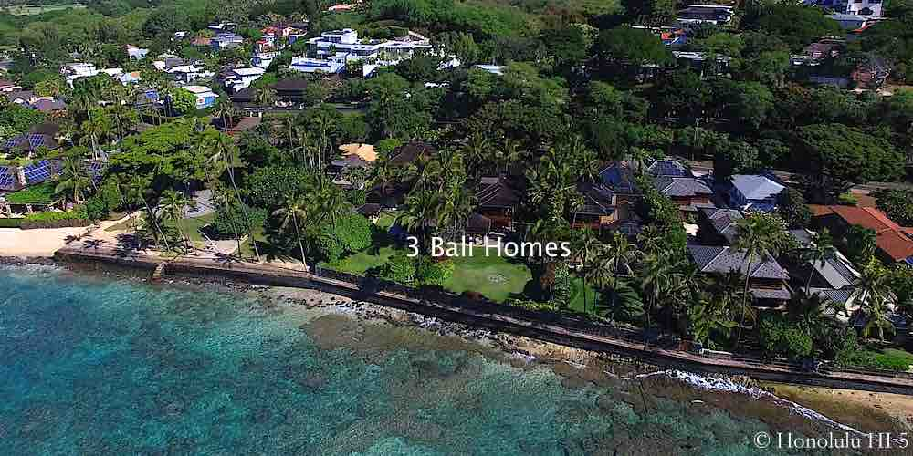 Three Oceanfront Bali Homes in Diamond Head - Aerial Photo
