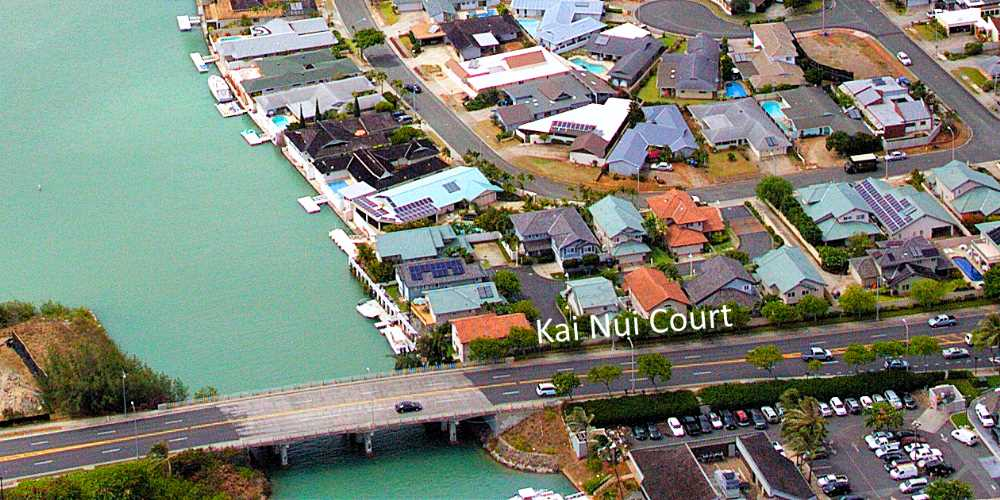 Kai Nui Court Homes Hawaii Kai - Aerial Photo
