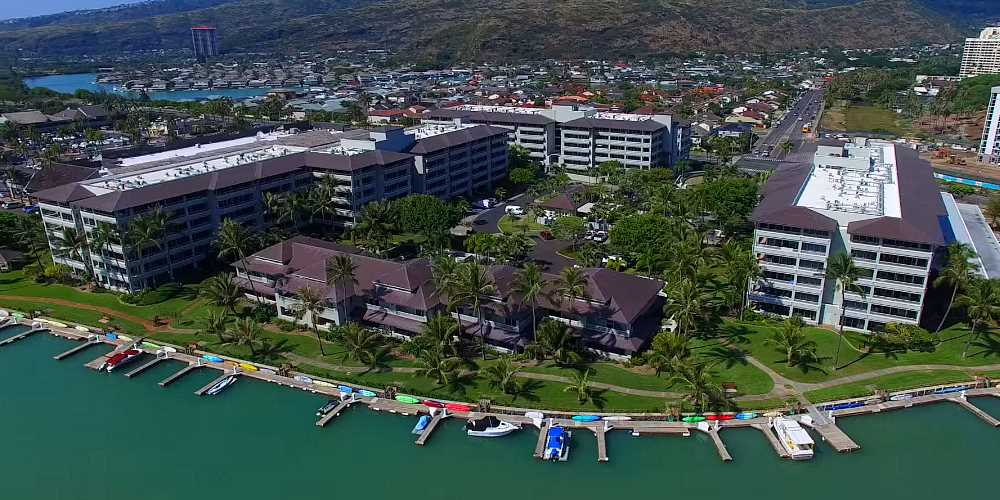 Kalele Kai Condos in Hawaii Kai - Aerial Photo