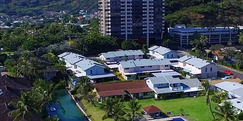 Koko Head Villas Hawaii Kai Townhomes - Aerial Photo