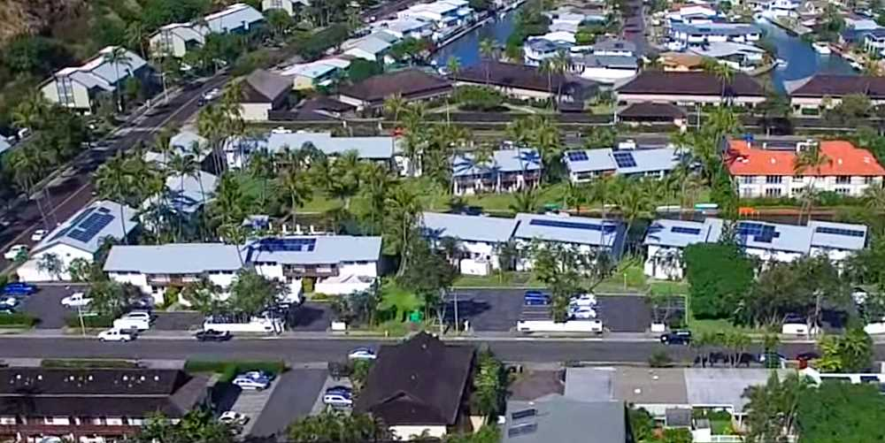 Marina Palms Hawaii Kai Townhomes - Aerial Photo