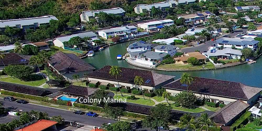 Colony Marina Hawaii Kai Townhomes - Aerial Photo