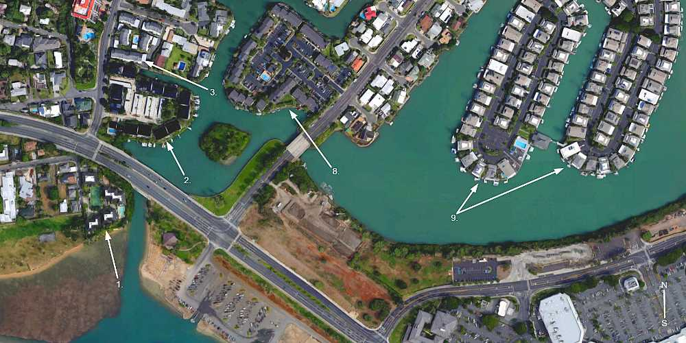 Hawaii Kai Marina Front Townhomes - Aerial Map