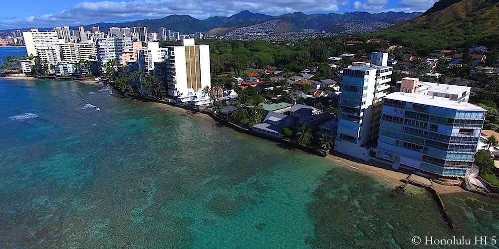 Hawaii Gold Coast Condos Seen From Ocean