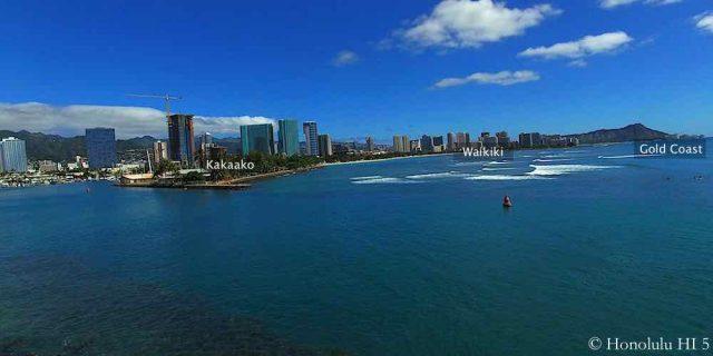 Honolulu Condos - Drone Photo of Kakaako, Waikiki, Diamond Head