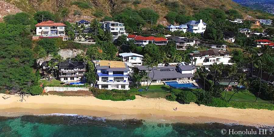 Diamond Head Beach Front Homes - Aerial Photo