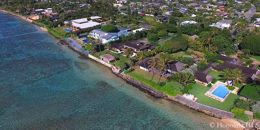 Kahala Oceanfront Homes - Aerial Photo