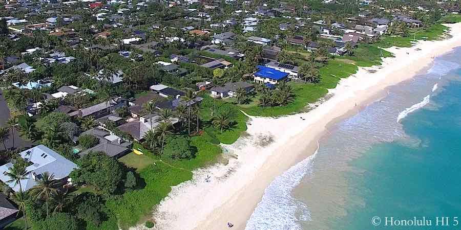 Kailua Beachside Homes - Aerial Photo