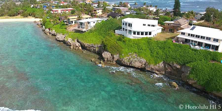 Laie Oceanfront Homes - Aerial Photo