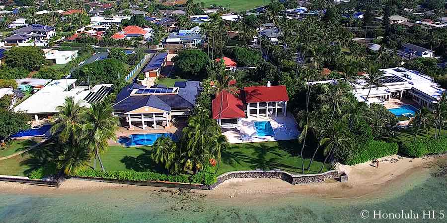 Portlock Honolulu Oceanfront Homes - Aerial Photo