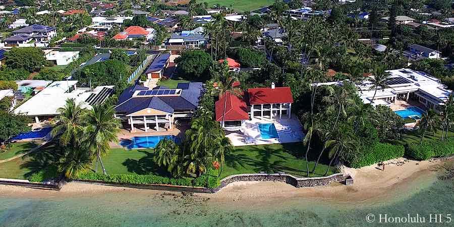 Portlock Honolulu Oceanfront Homes - Aerial Photo