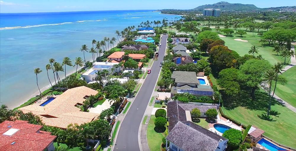 Kai Nani Beachfront & Golf Fronting Homes - Drone Photo