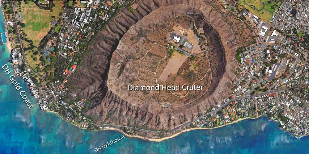 Diamond Head Neighborhood Aerial Map