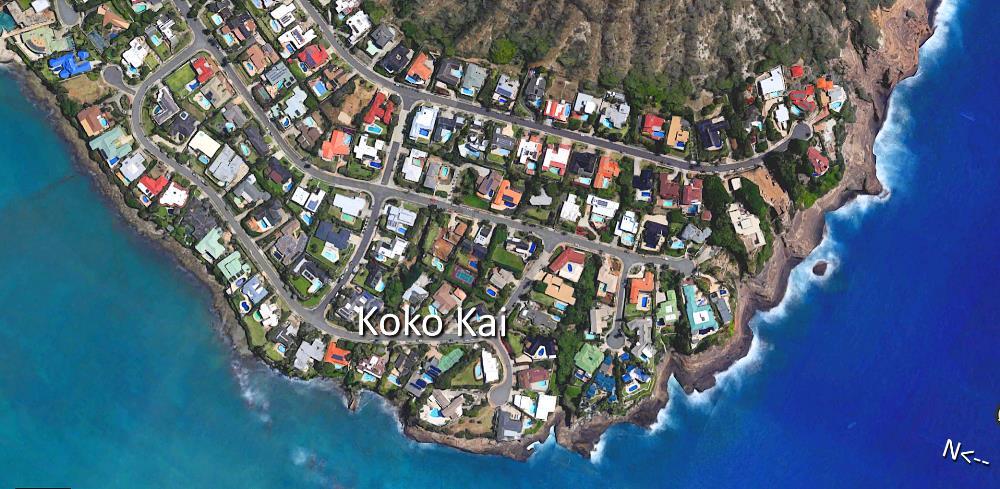 Koko Kai Aerial Map