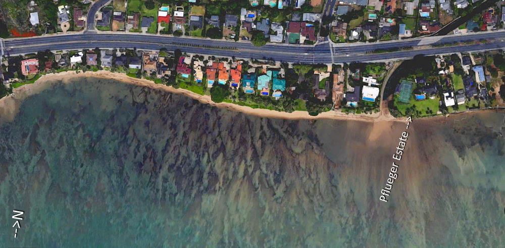Niu Beach Aerial Map
