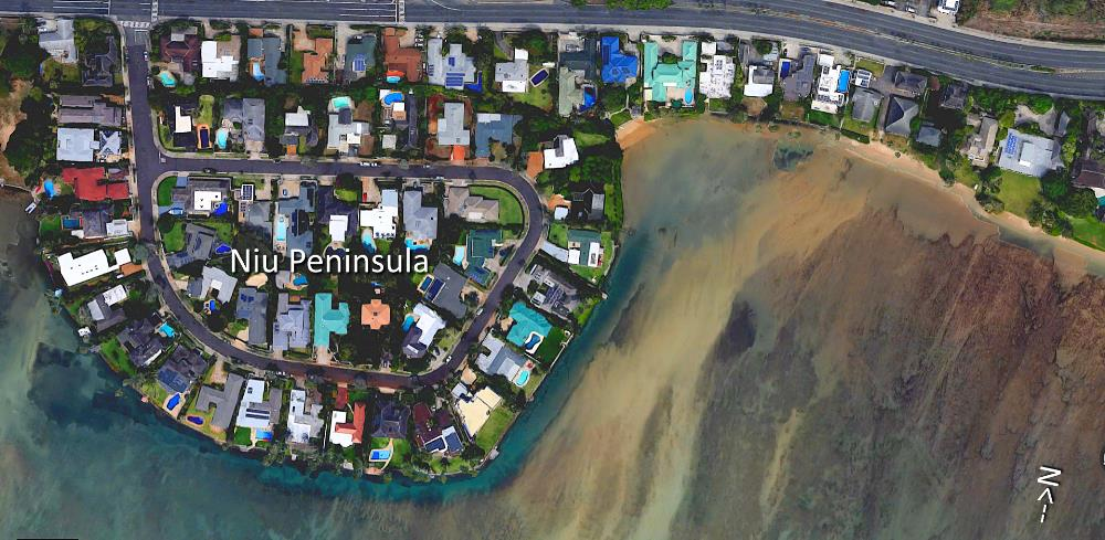 Niu Peninsula Aerial Map