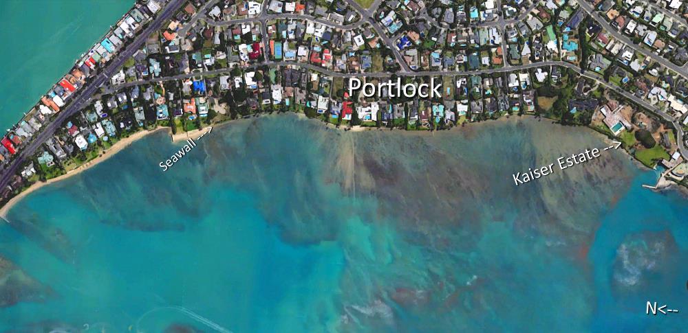 Portlock Aerial Map