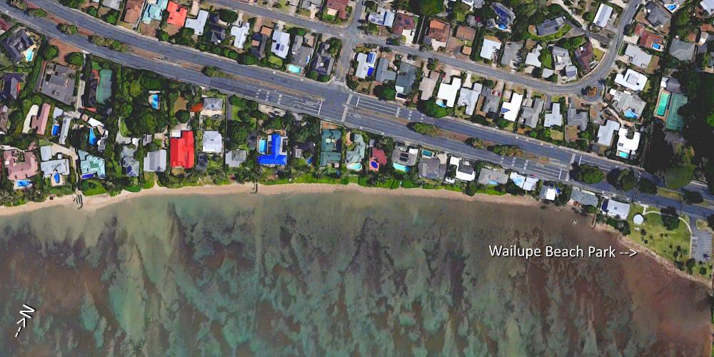 Wailupe Beach Aerial Map