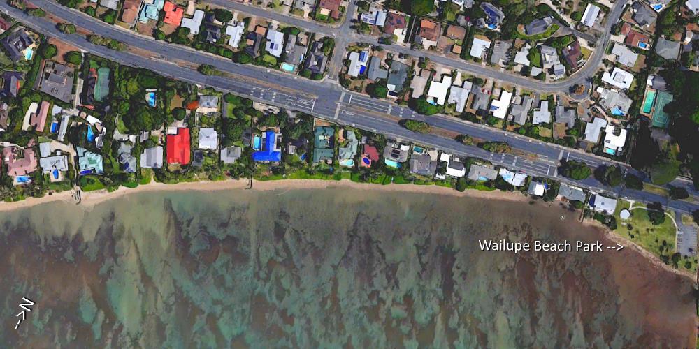 Wailupe Beach Aerial Map