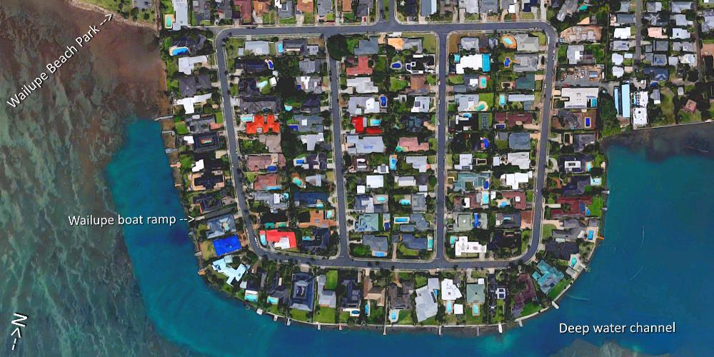 Wailupe Peninsula Aerial Map