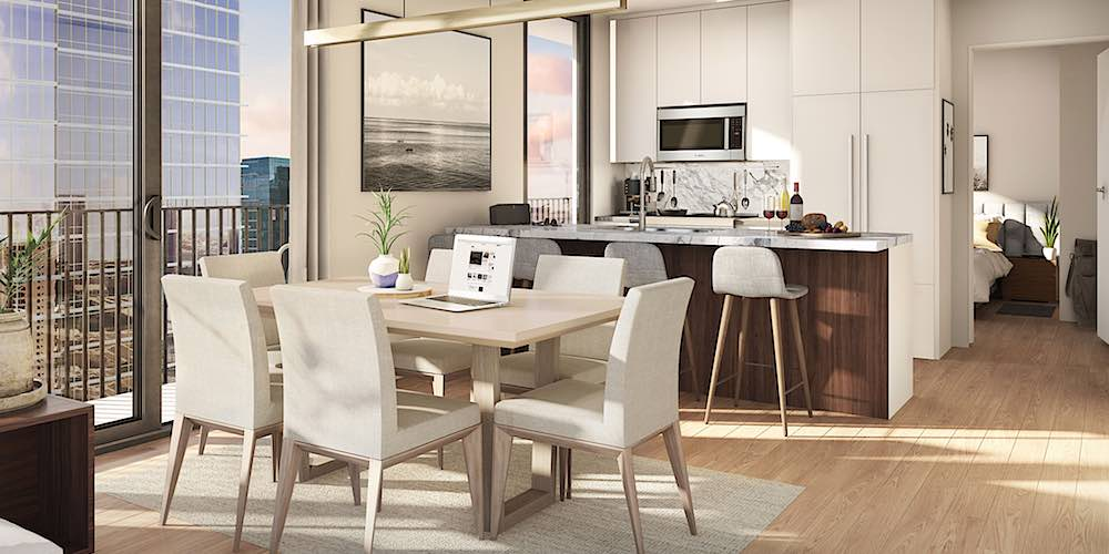Aalii Condo Dining and Kitchen Rendering