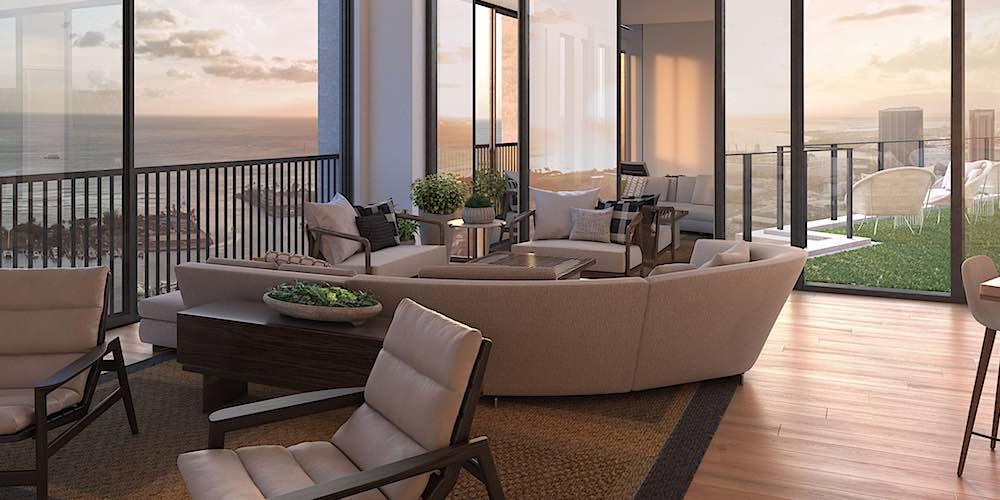 Aalii Condo Rooftop Recreation Room - Rendering