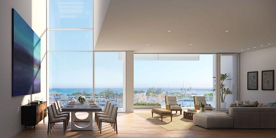 Gateway Towers Villa Living Room Rendering