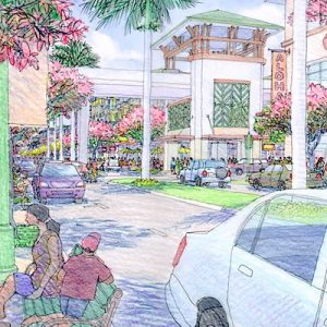Hoopili Shopping and Street Rendering