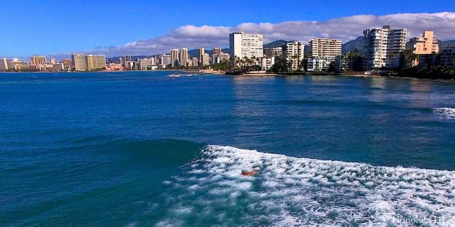 Ocean with Honolulu Condos in Background