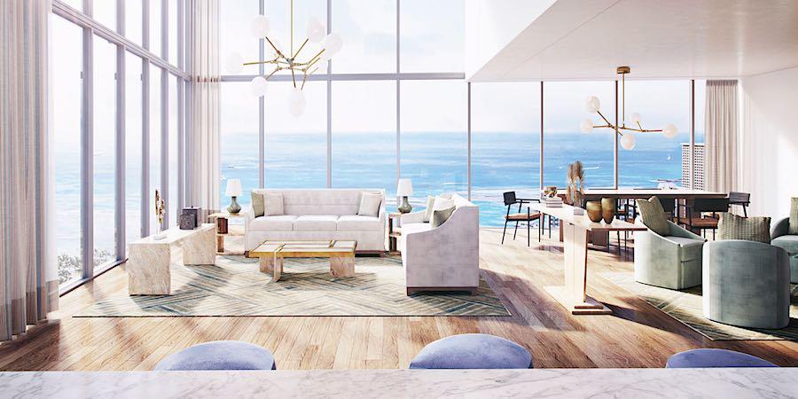 Ritz-Carlton Waikiki Penthouse Rendering