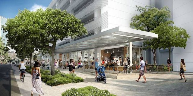 Rendering of Sidewalk by a New Condo Project in Honolulu