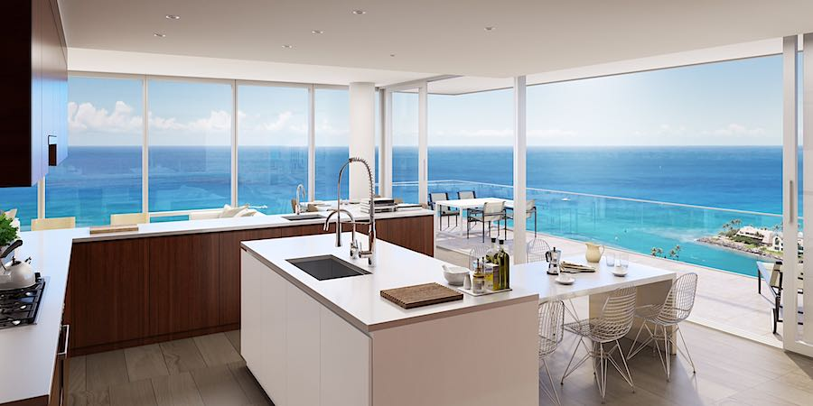 Waiea B Stack Kitchen and Balcony Rendering