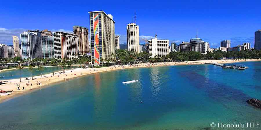 Waikiki Beach and Hotels