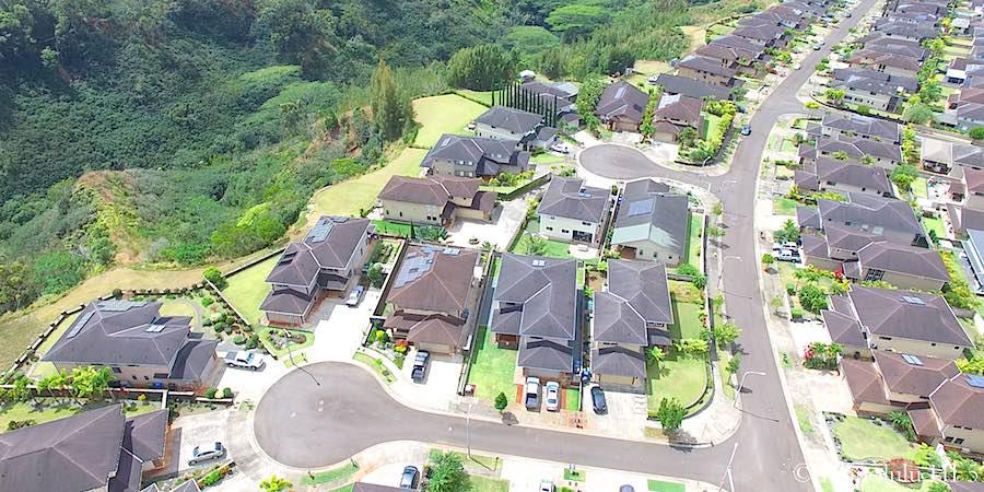 Mililani Mauka Single-Family Homes Aerial Photo