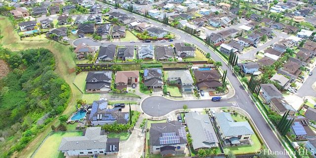 Mililani Mauka Houses - Aerial Photo