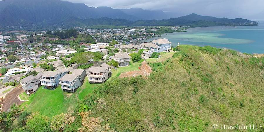 Summit at Kaneohe Aerial Photo with Kaneohe Bay in Distance