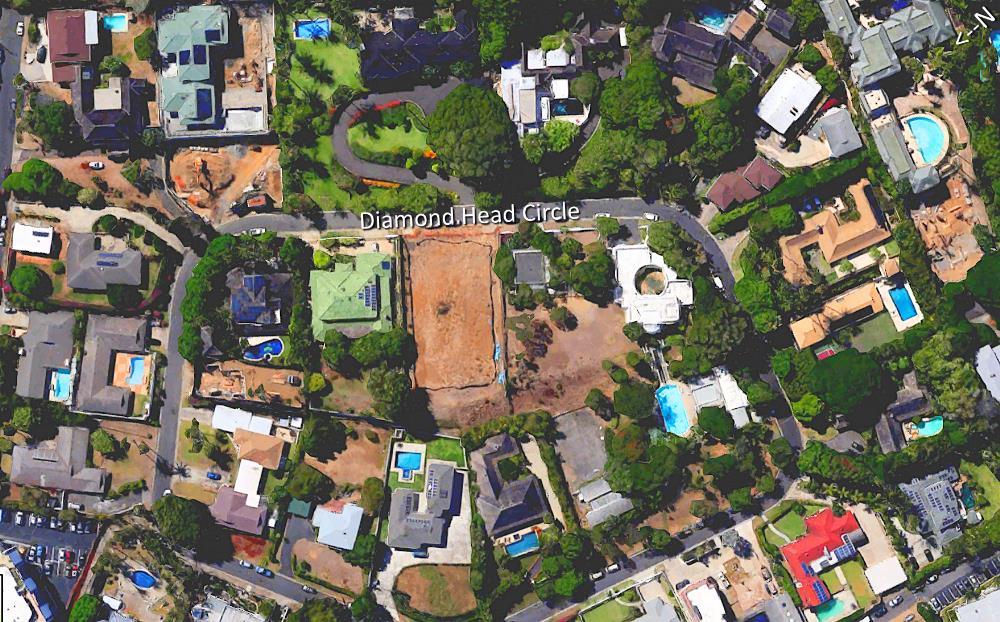 Diamond Head Circle - Aerial Map