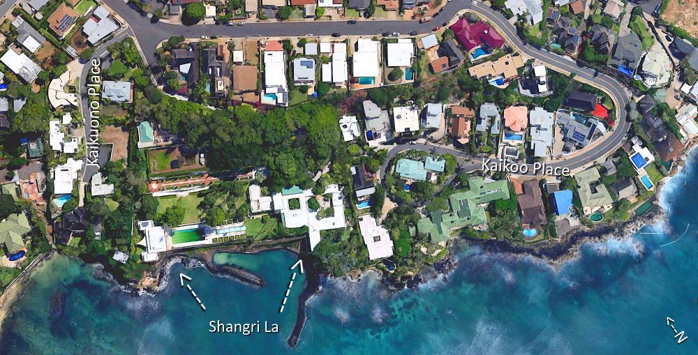 Kaikuono Place and Kaikoo Place - Aerial Map