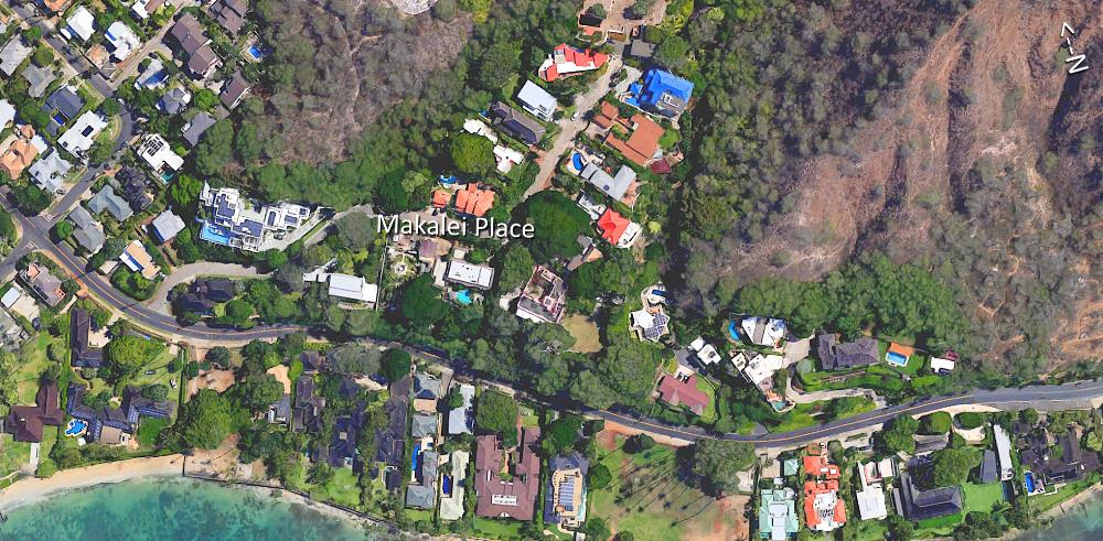 Makalei Place - Aerial Map